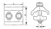 Parallel Groove Clamp drawings