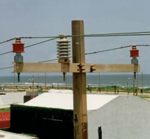 Raybowl insulators installed in a high polluted area in Latin America.