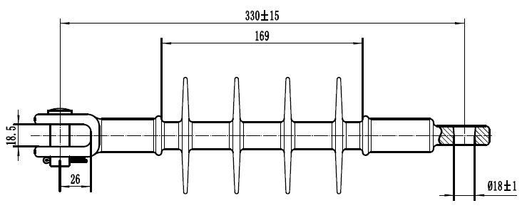 DS-15 15kV-70kN Silicone Deadend Polymer//Composite insulator
